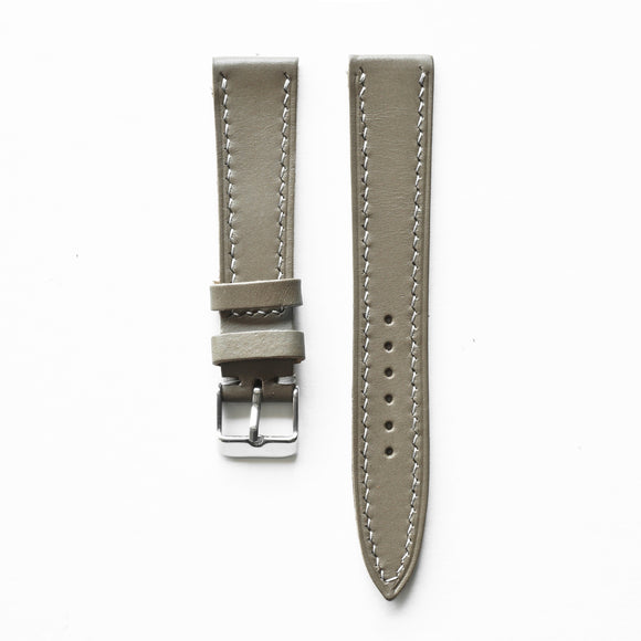 OGL WTC HANDSTITCH BUTTERO WATCH STRAP KHAKI GREY VTG 20-16MM