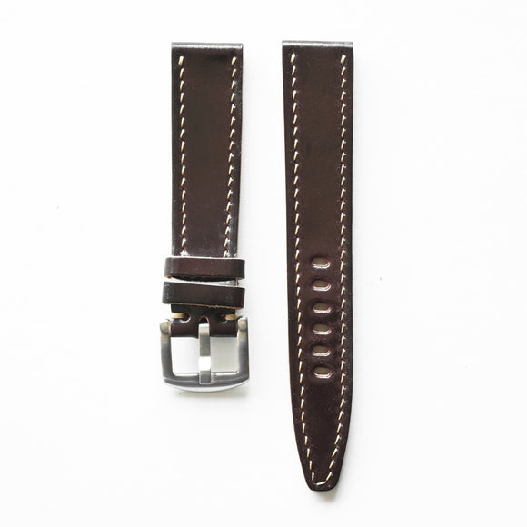 OGL WTC HANDSTITCH SHELL CORDOVAN WATCH STRAP NO.8
