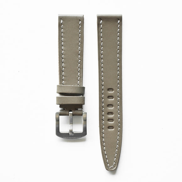 OGL WTC HANDSTITCH BUTTERO WATCH STRAP KHAKI GREY