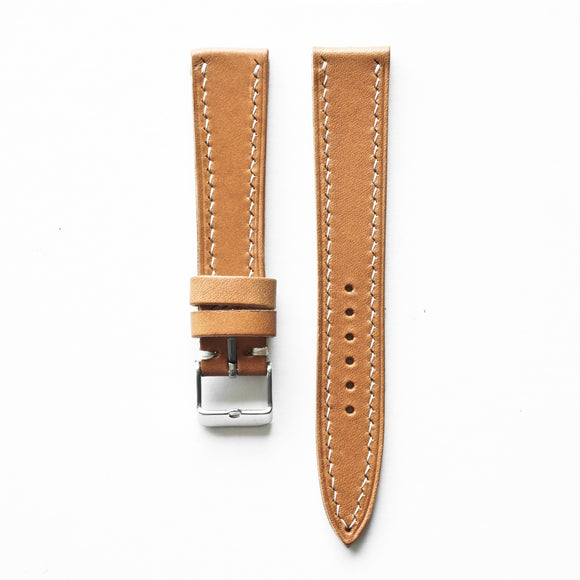 OGL WTC HANDSTITCH BUTTERO WATCH STRAP MUSTARD BROWN VTG 20-16MM