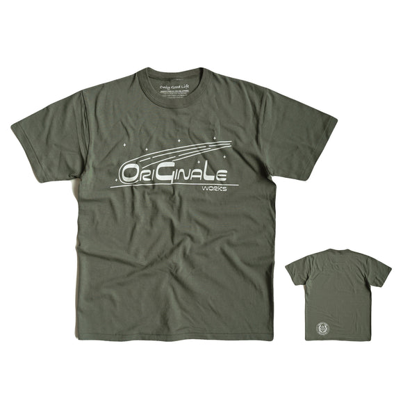 OGL APPAREL ORIGINALE STARGAZER T-SHIRT OLIVE  (2020 LOT 1)
