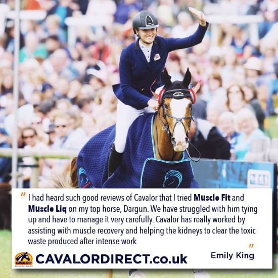 Emily King endorses Cavalor Muscle Fit - Cavalor Direct