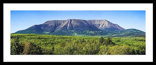 "Katahdin 36""x12"" Panorama, Framed and Matted"