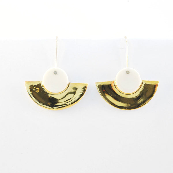 Gorgeous deco golden scallop earrings