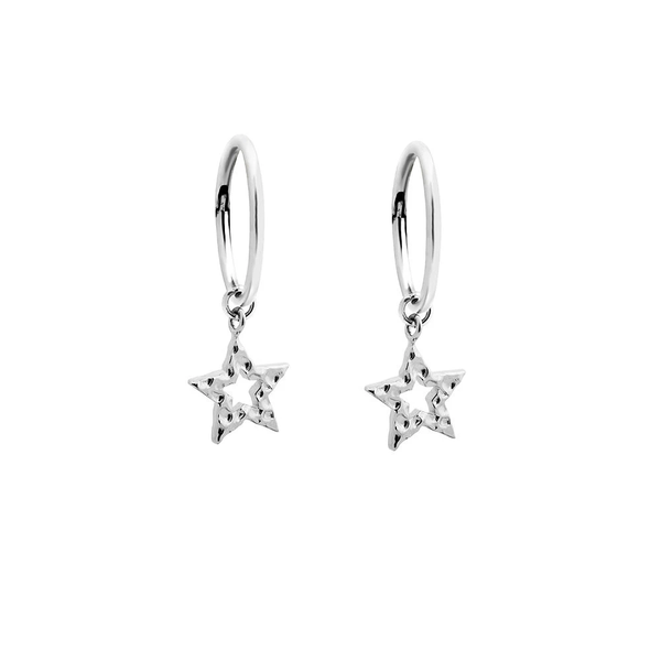 Charm Sleepers - Silver Hammered Star