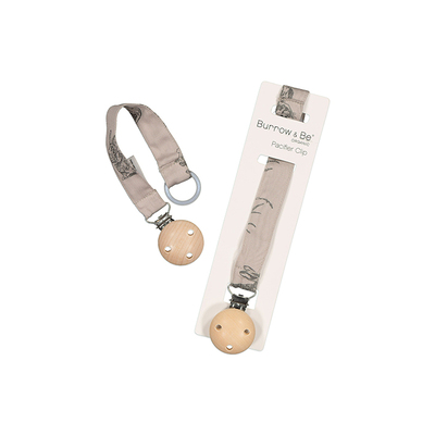 Essentials Pacifier clip - Grey Burrowers
