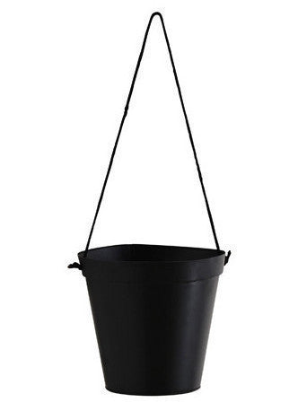 Small Hanging Pot - Black