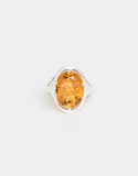Lucent Ring - Saffron & Silver