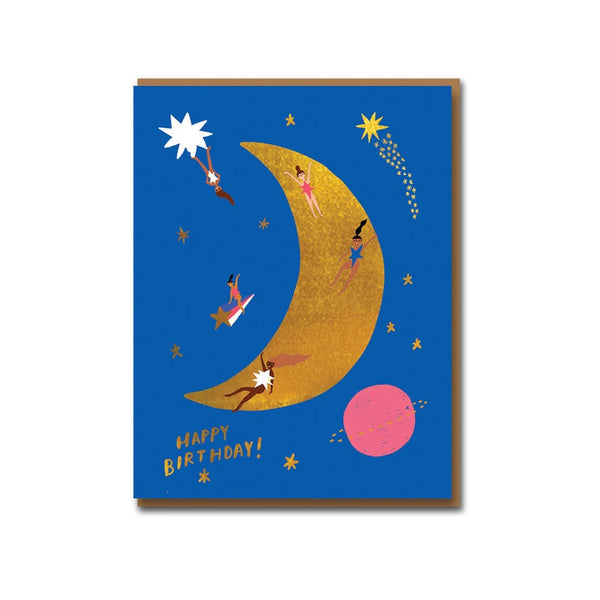 Moonlanding Birthday Card