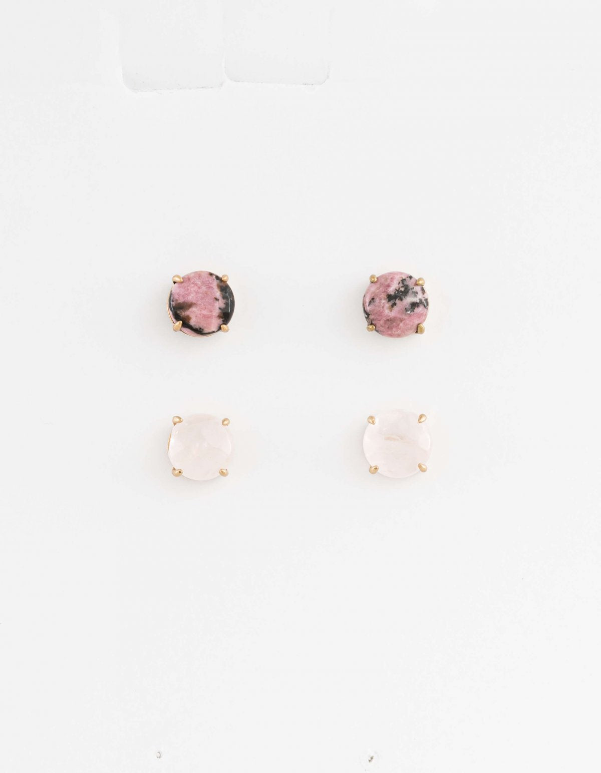 Set of 2 Studs - Rose/Pink