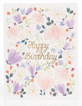 Floral Whispers Birthday Card