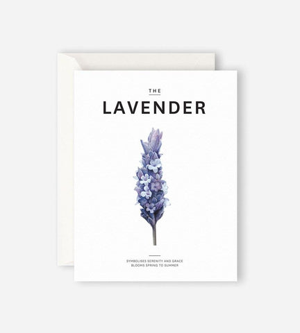 Lavender Greetings Card