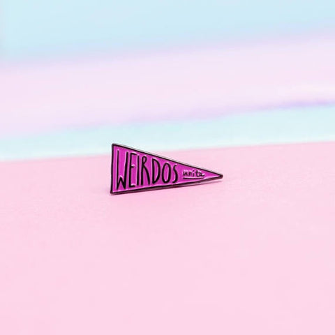 Weirdos Unite Flag Pin