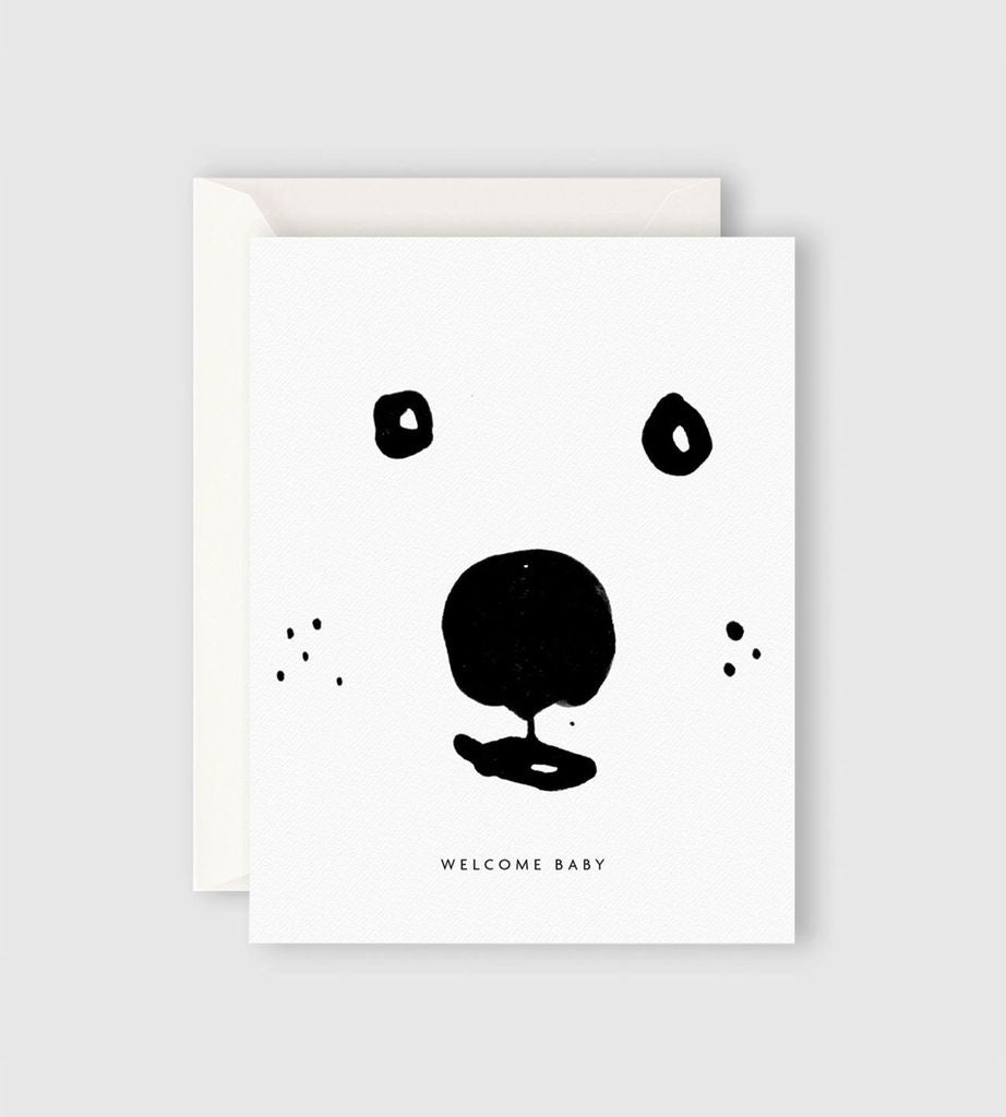 Welcome Bear Baby Card