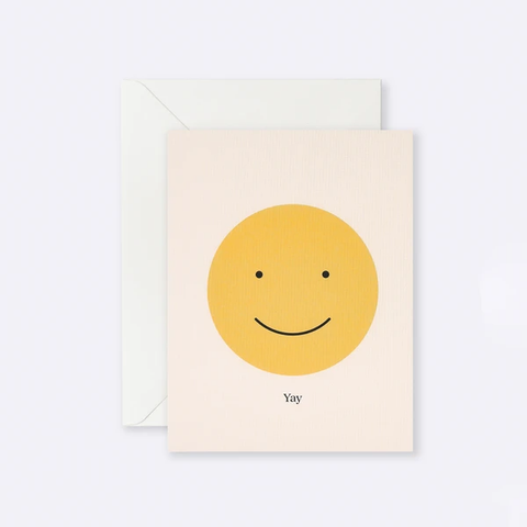 Yay Smile Card - Stripe