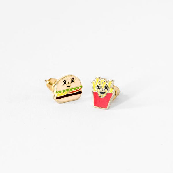Burger and Fries Earrings