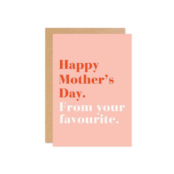 Favourite Mother's Day Card
