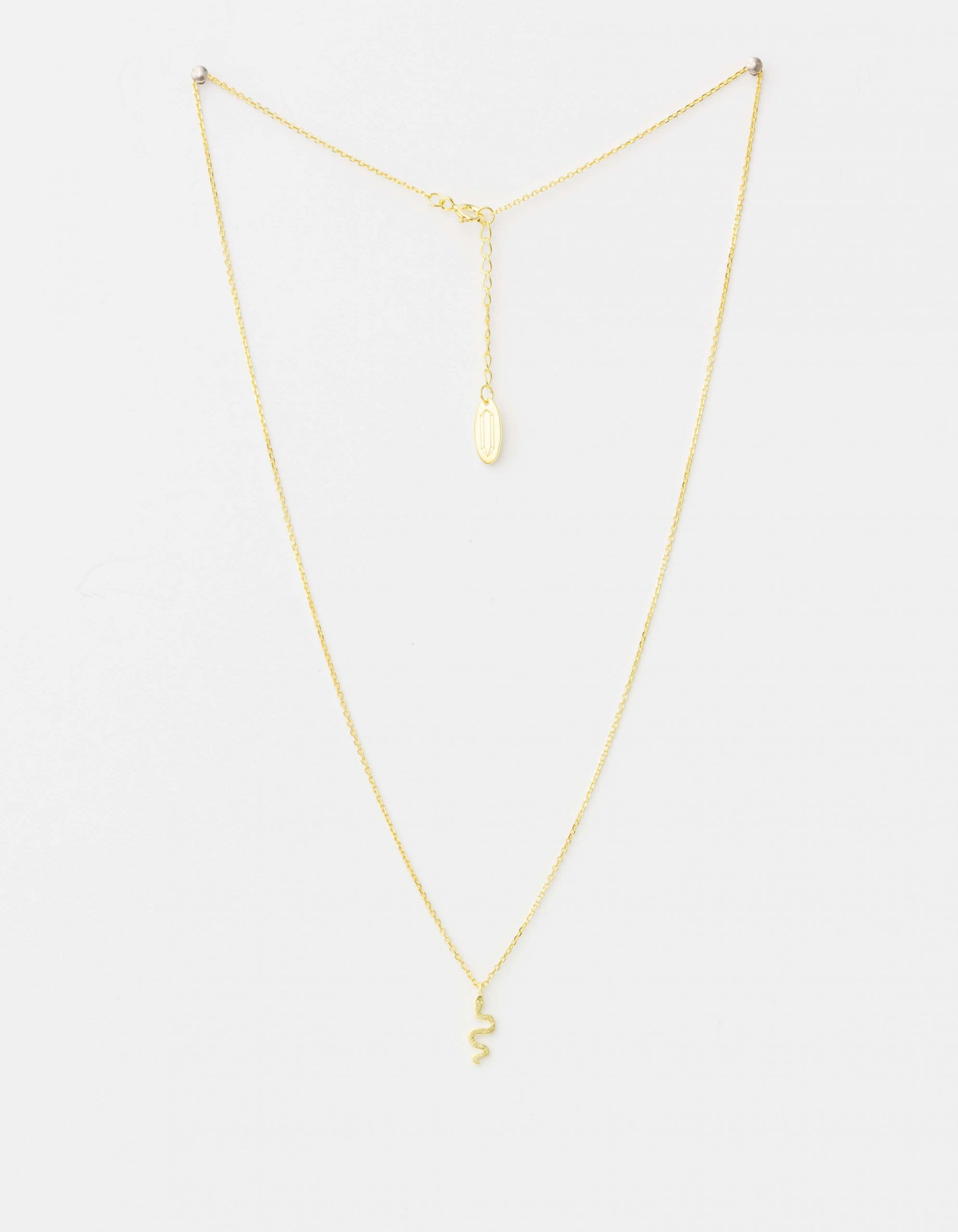 Serpent Necklace - 14kt Gold Plate