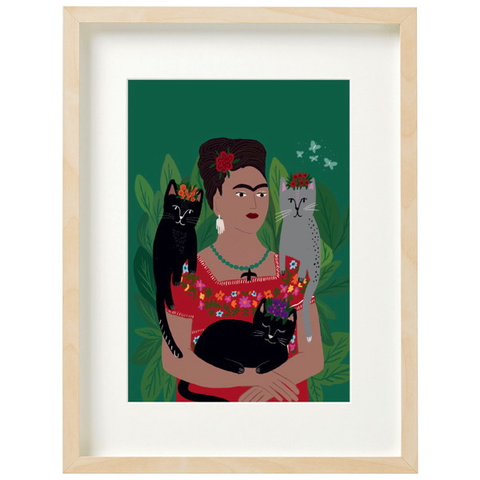 Frida and her Catlos Print