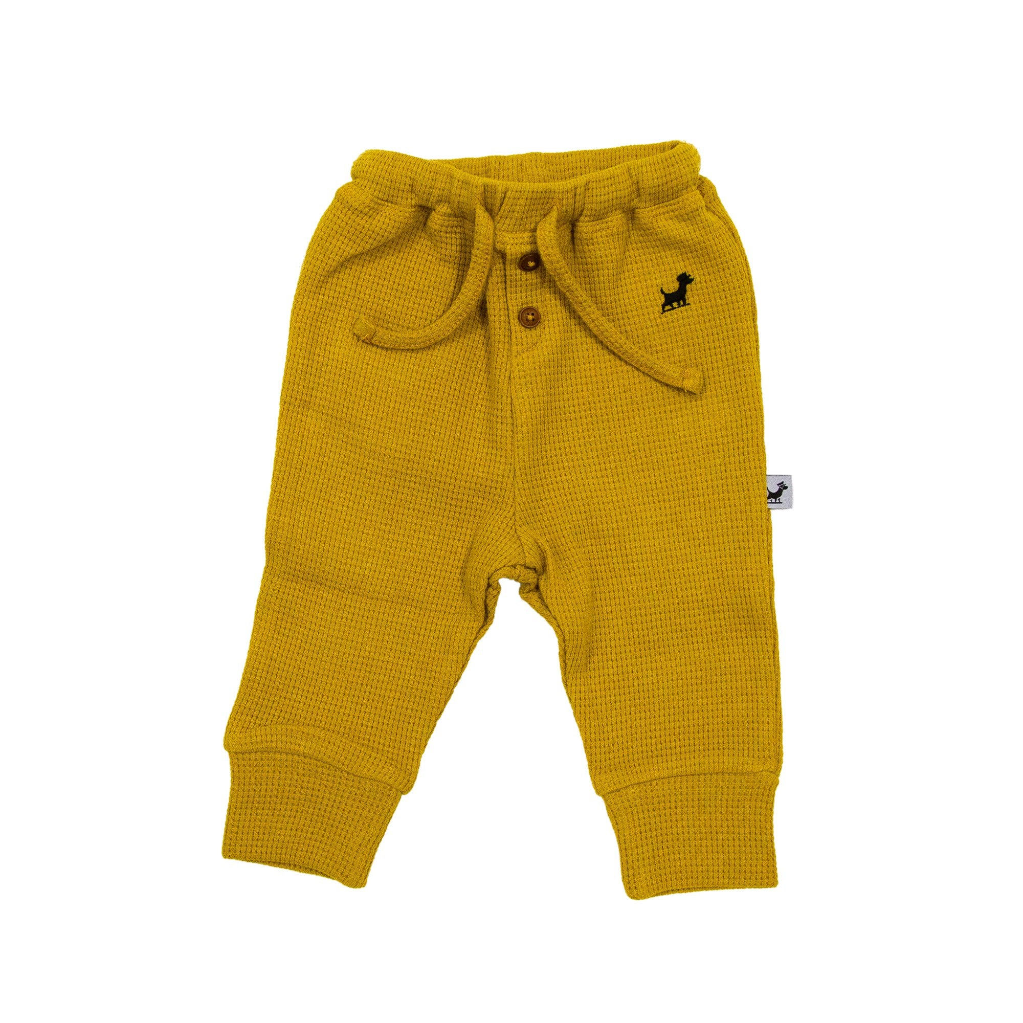 Waffle Organic Cotton Pants - Golden Nugget