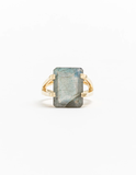 Gold & Labradorite Ring