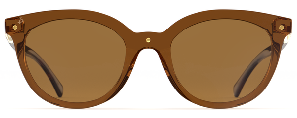 Casablanca Sunglasses - Crystal/Brown
