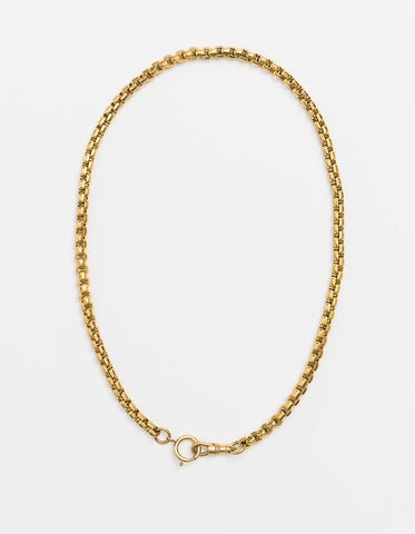 Long Double Catch Snake Chain - Gold