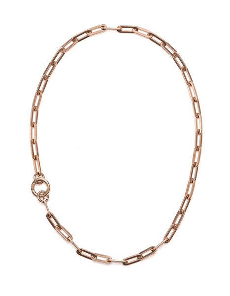 Fifth Symphony Big Chain Necklace - Rose Gold