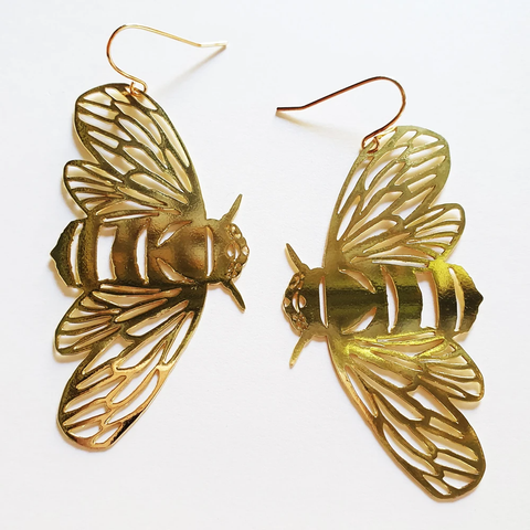 Bee Earrings - Gold