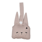 Bunny Animal Rattle - Mauve