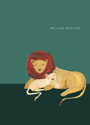 Welcome Wild One Baby Card