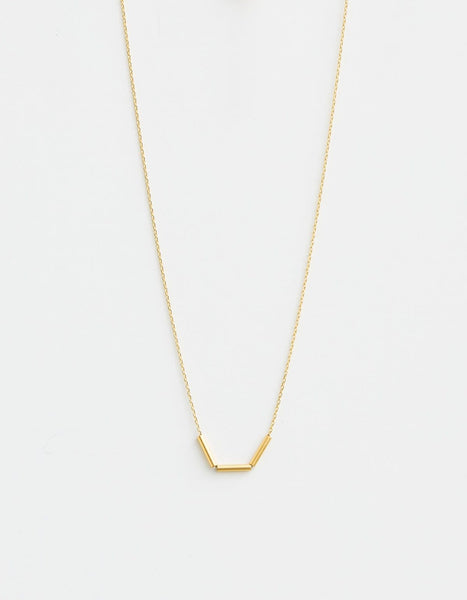 Bar Trio Necklace - Gold