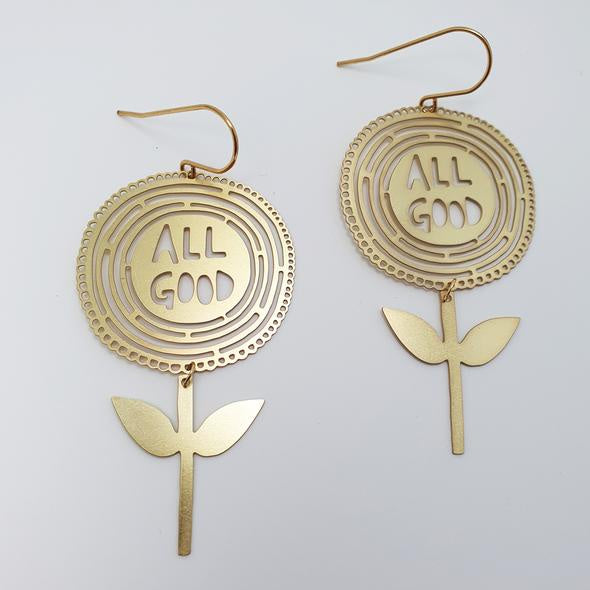 All Good Flower Earrings - Gold