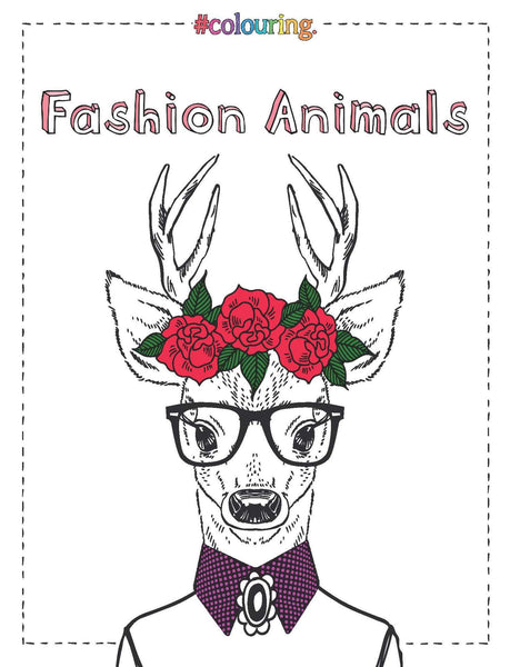 Fashion Animals Colouring Book