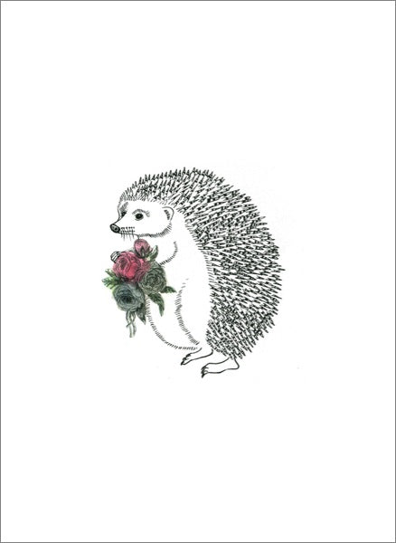 Martha the Hedgehog Card