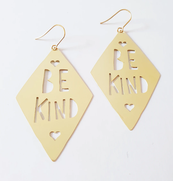 Be Kind Earrings - Gold
