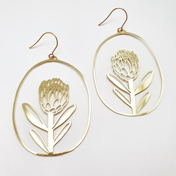 Proteas Earrings - Gold