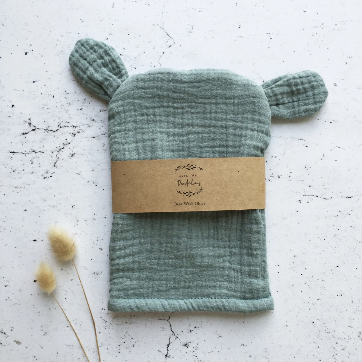 Bear Wash Glove - Sage