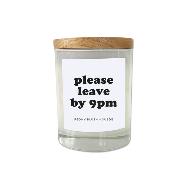 Please Leave by 9pm Candle - French Pear