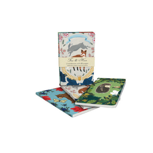 Fox & Hare Notebook Set