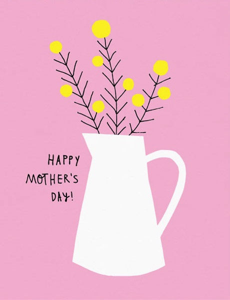 Flower Jug Mother's Day Card