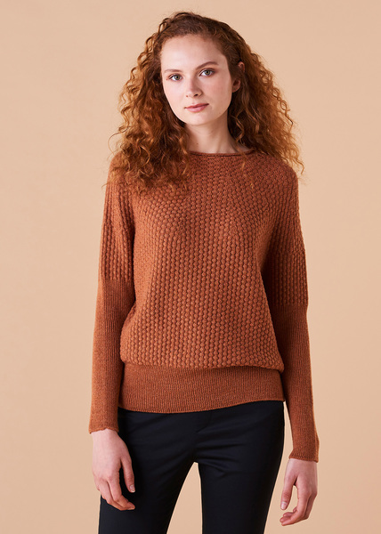 Bellamy Merino Jumper - Amber