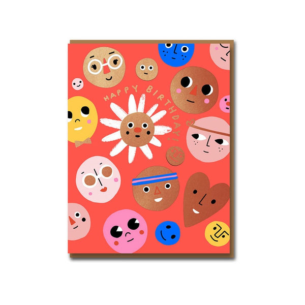 Happy Faces Birthday Card