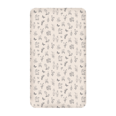 Cot Sheet - Blush Meadow