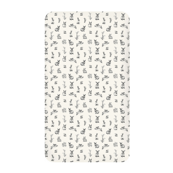 Cot Sheet - Almond Burrowers