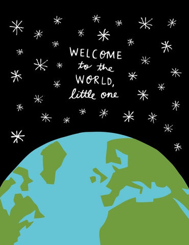 Welcome to the World Little One Baby Card