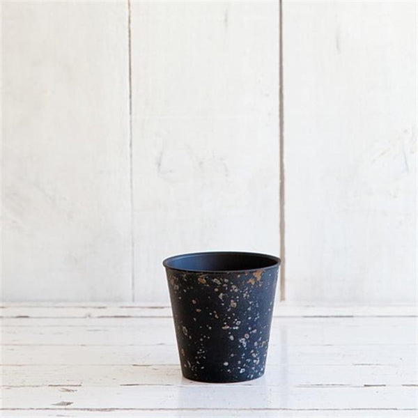 Weathered Look Planter 11cm - Black
