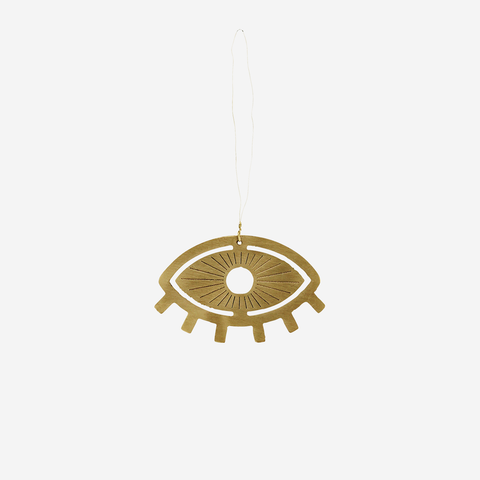Hanging Brass Ornament - Eye