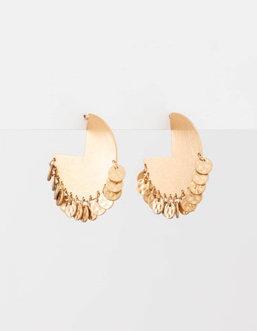Brushed Carnival Earrings - Gold