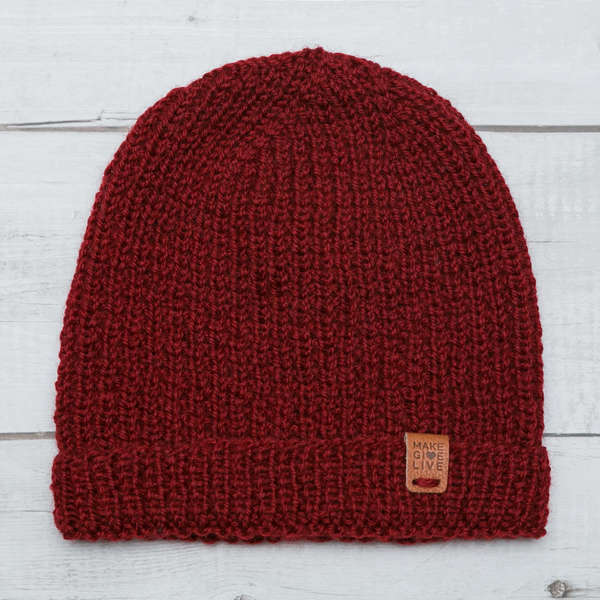 Charlie Adult Merino Hat - Red